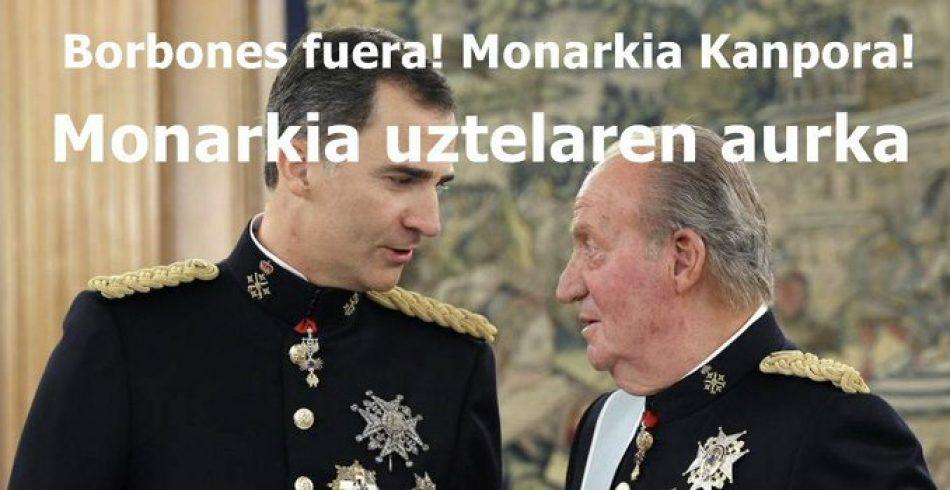 El PCE-EPK llama a movilizarse contra la monarquía corrupta y por la república este miércoles en las capitales vascas