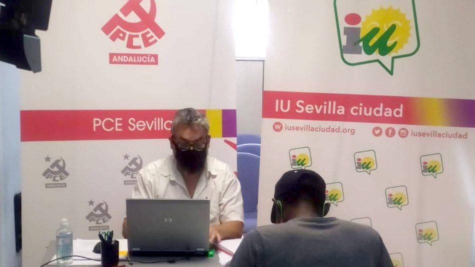 IU y PCE asesoran a más de un centenar de familias sevillanas sobre la gestión del Ingreso Mínimo Vital