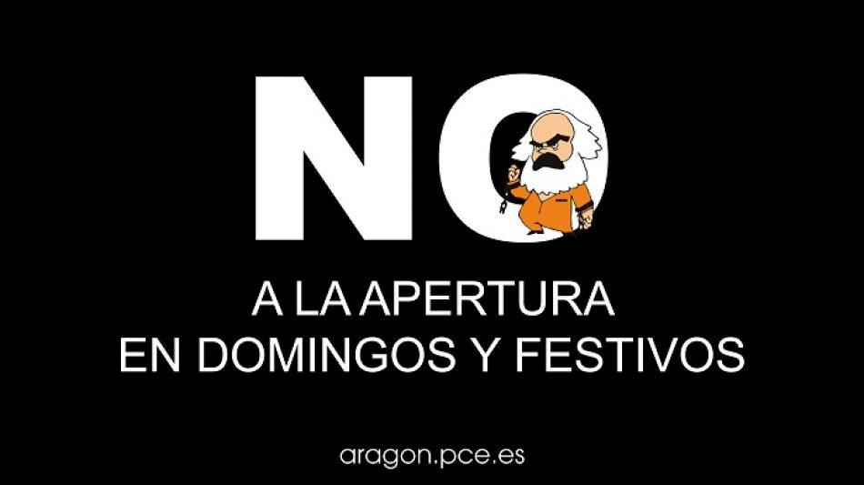 «Contra la apertura en domingos y festivos»