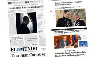 La lectura vasallática de El País sobre lo que se dijo del Borbón en el exterior
