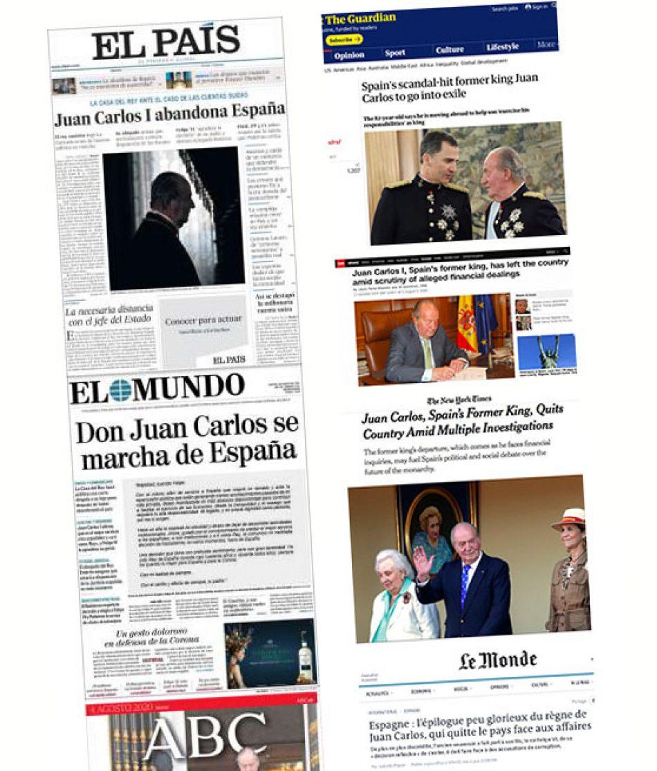 La lectura vasallática de El País sobre lo que se dijo del Borbón en la prensa internacional
