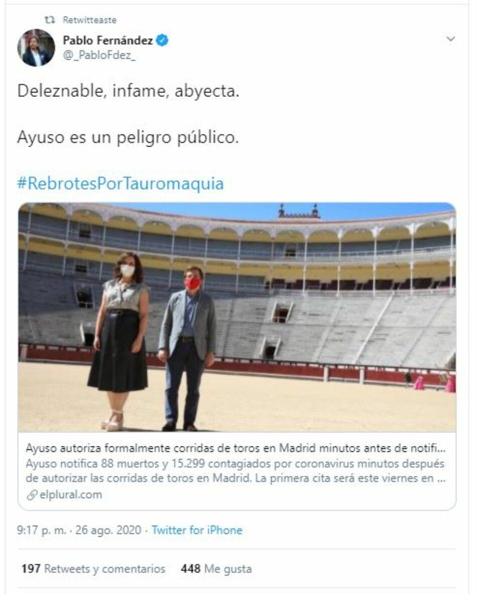 Sanse Antitaurino pide la suspensión de los eventos con toros