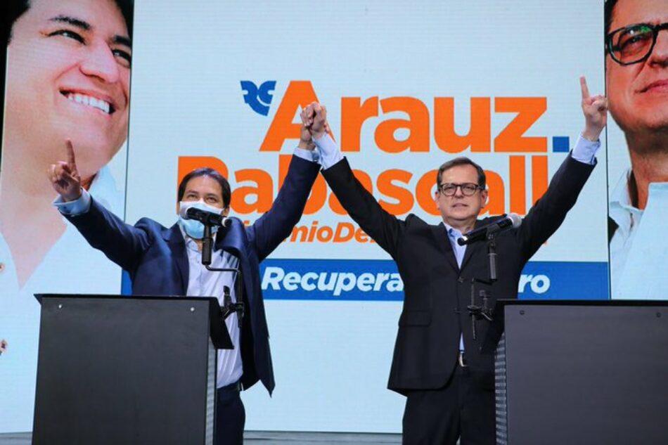 """IU denuncia """"sucias presiones"""" del Gobierno de Ecuador sobre el Consejo Electoral para """"impedir la candidatura del progresista Arauz a las presidenciales"""""""