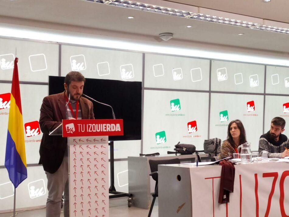 La Asamblea Política y Social de IU Madrid aprueba marcar la destitución de Ayuso y su gobierno como objetivo político