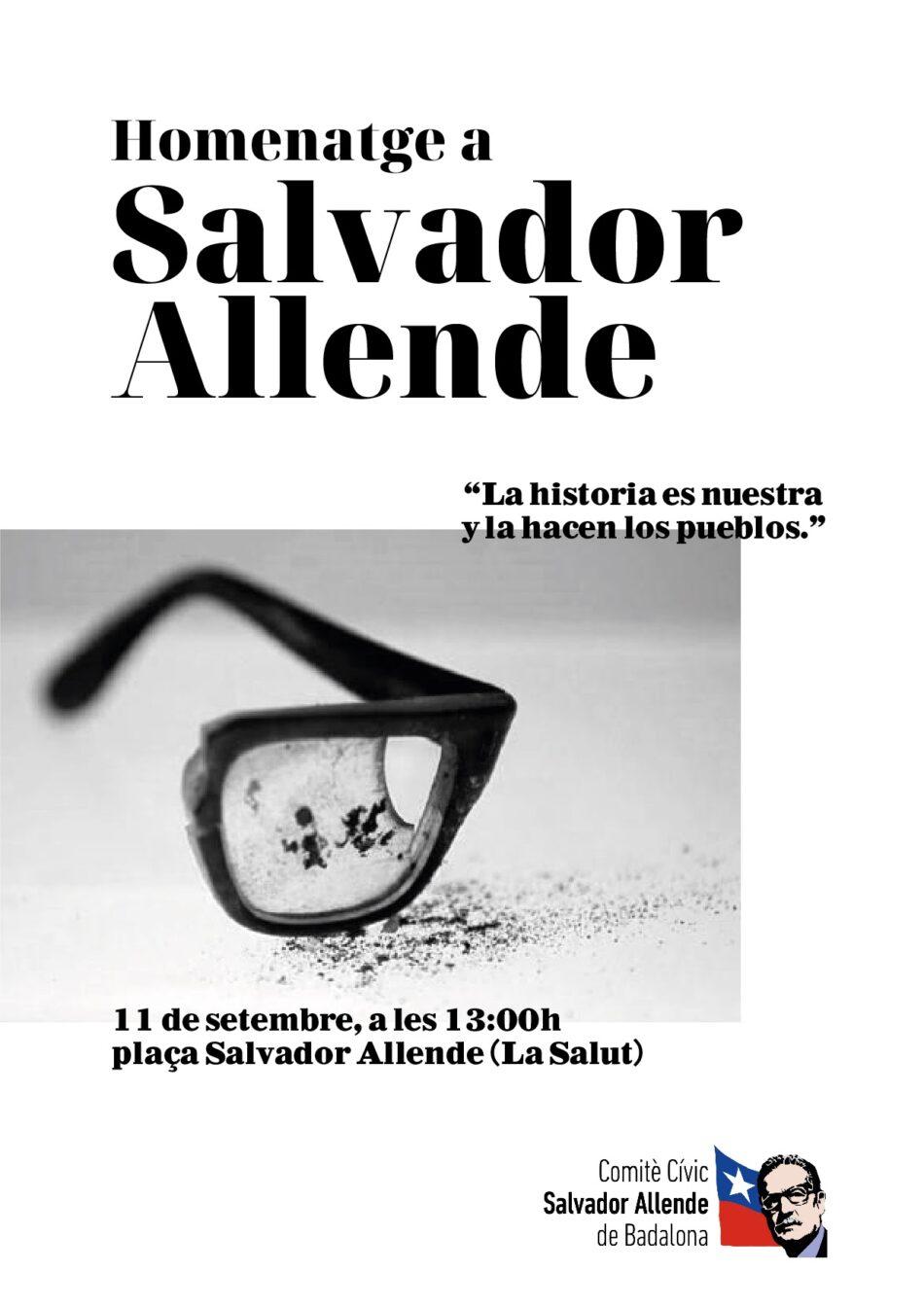 Homenatge a Salvador Allende a Badalona