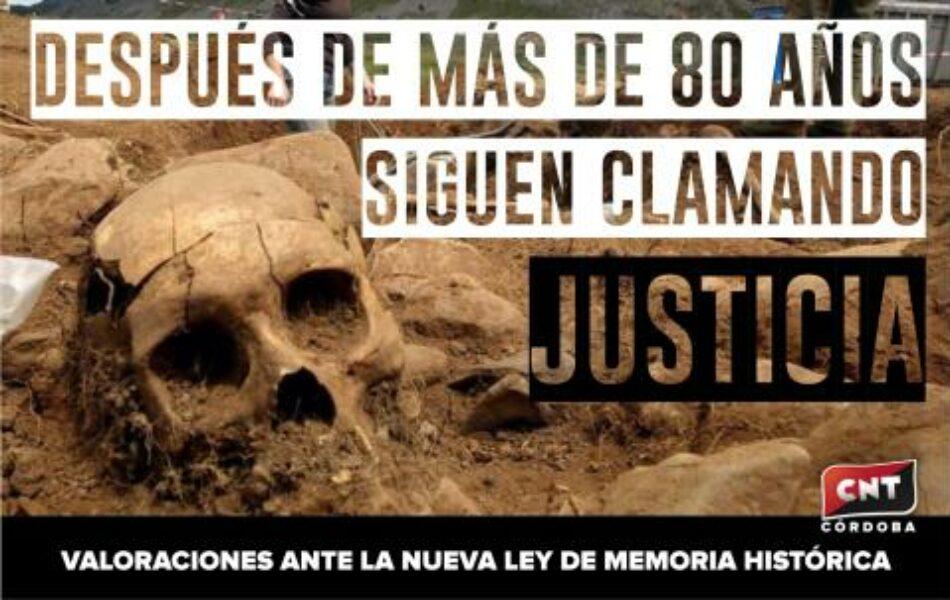 Ante el Anteproyecto de Ley de Memoria Histórica y Democrática