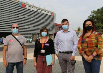 """CC OO y Podemos alertan de la situación en los hospitales de la Comunidad de Madrid: """"Si caen los hospitales, caemos todos"""""""