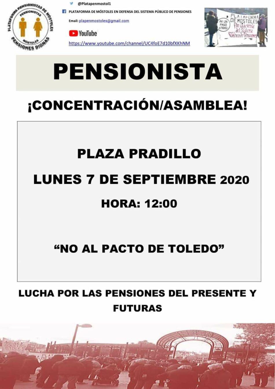 La Plataforma de Pensionistas de Móstoles retoma su actividad