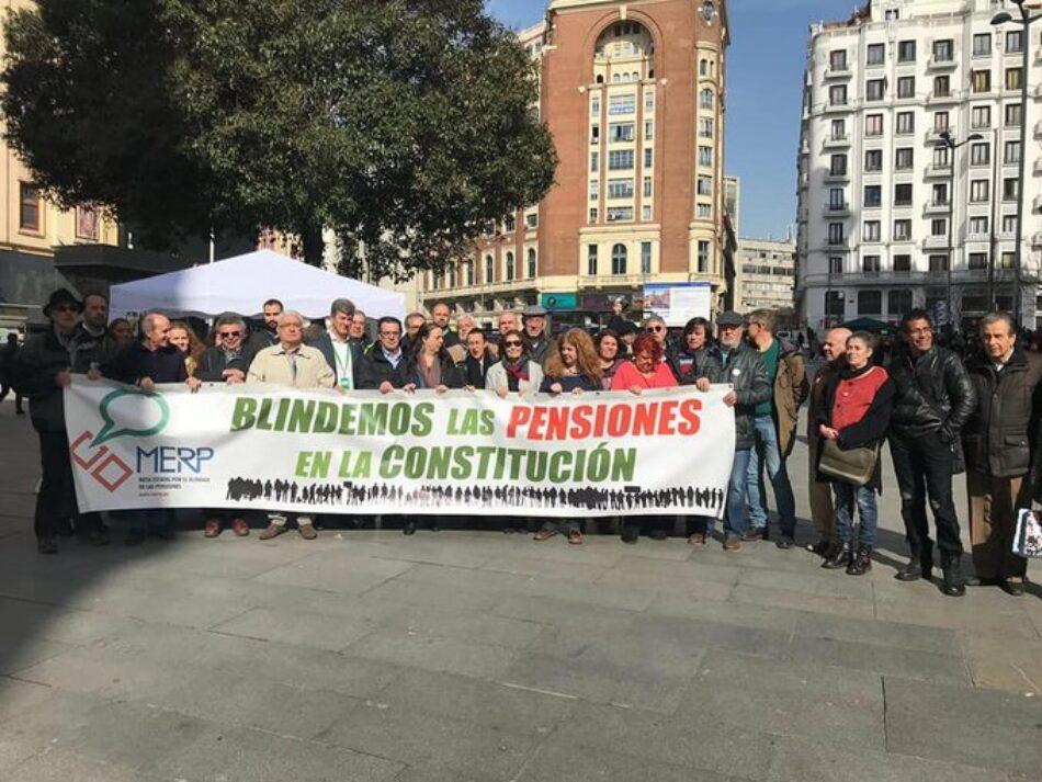 La MERP rechaza las presiones de Europa y llama a blindar las pensiones en la Constitución