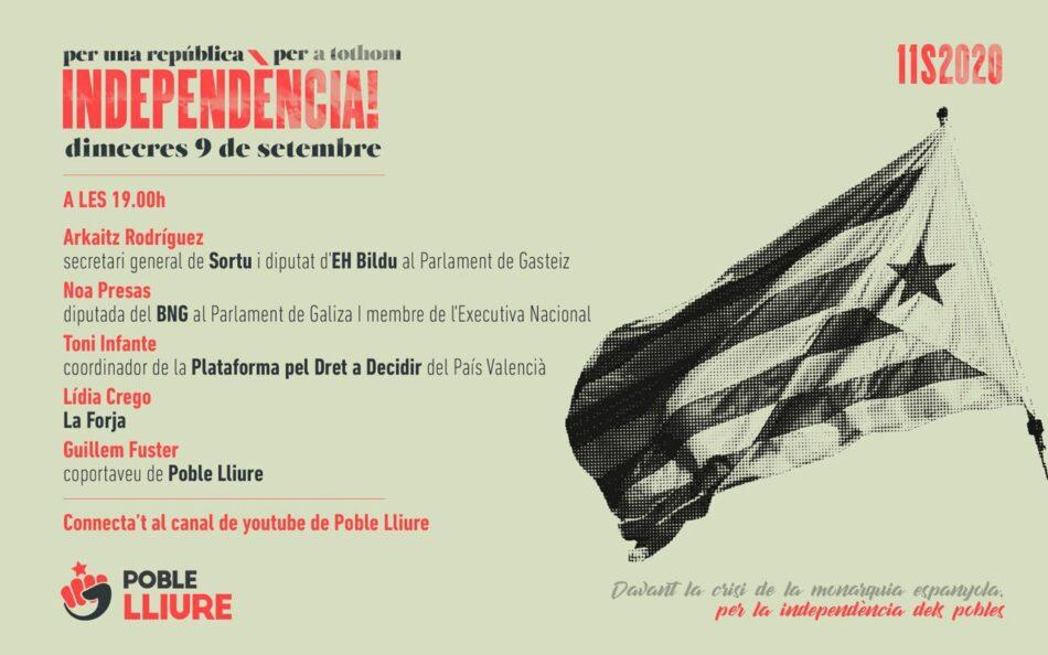 Poble Lliure organitza un acte polític amb representants de Sortu, BNG, La Forja i la Plataforma pel Dret a Decidir del País Valencià en el marc de la Diada Nacional de Catalunya