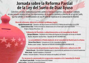 Jornada técnica sobre la reforma parcial de la Ley del Suelo del Gobierno de Díaz Ayuso