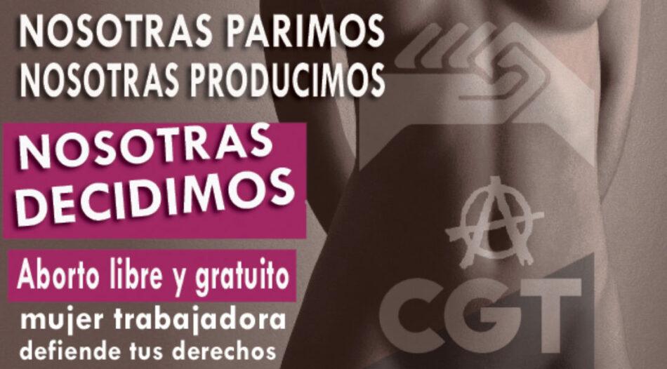 CGT continúa reivindicando el derecho a decidir de las mujeres sobre sus cuerpos en el Día de Acción Global por el acceso al Aborto Legal y Seguro