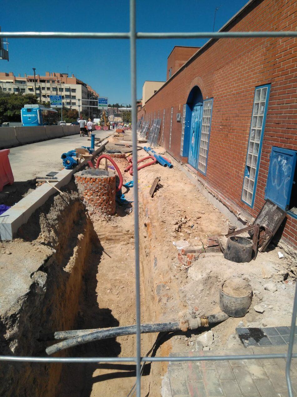 Movimiento ciudadano denuncia la situación de los accesos a los centros escolares por la obras de la operación Mahou-Calderón