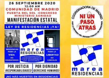 Por un nuevo modelo residencial y la adopción de medidas concretas para mejorar la situación de las residencias en la desescalada