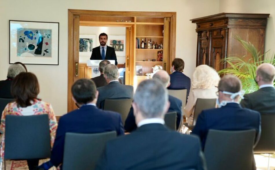 """IU cree que Casado continúa con su """"agenda de acoso y derribo al Gobierno"""" en Europa tras su reunión con los embajadores y pide a Weber que se desvincule de esta maniobra"""
