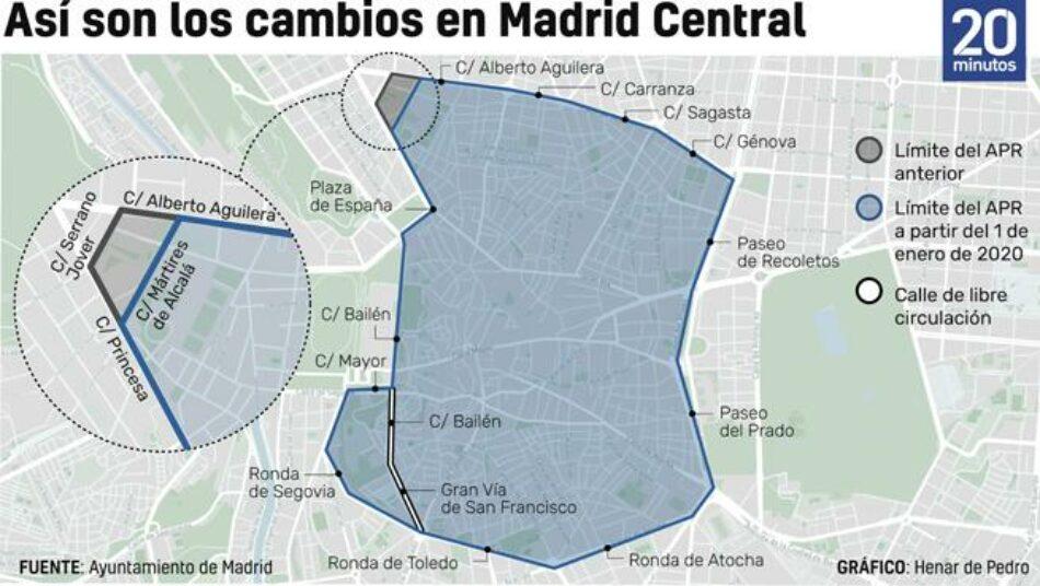 Ecologistas en Acción recurre las sentencias que podrían desmantelar Madrid Central