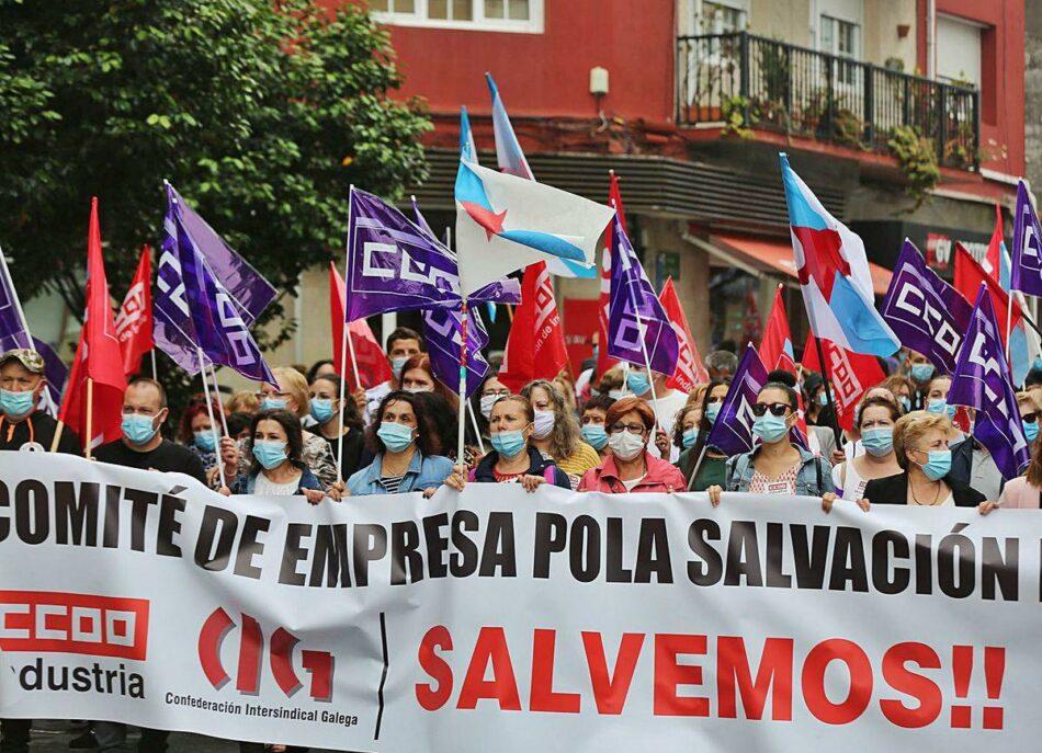 EU reclama á Xunta que interveña para salvar os postos de traballo de Thenaisie-Provoté e apoia a folga das traballadoras