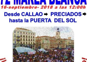 Marea Blanca denuncia la «peligrosa situación» de la sanidad madrileña