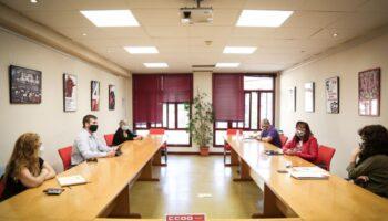 CCOO y Podemos en la Comunidad de Madrid analizan la grave crisis sanitaria de la región