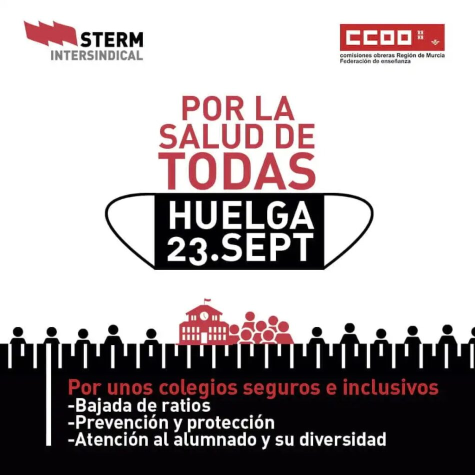 CGT manifiesta su apoyo a la huelga educativa del 23 de septiembre ante el inmovilismo del Gobierno de Murcia