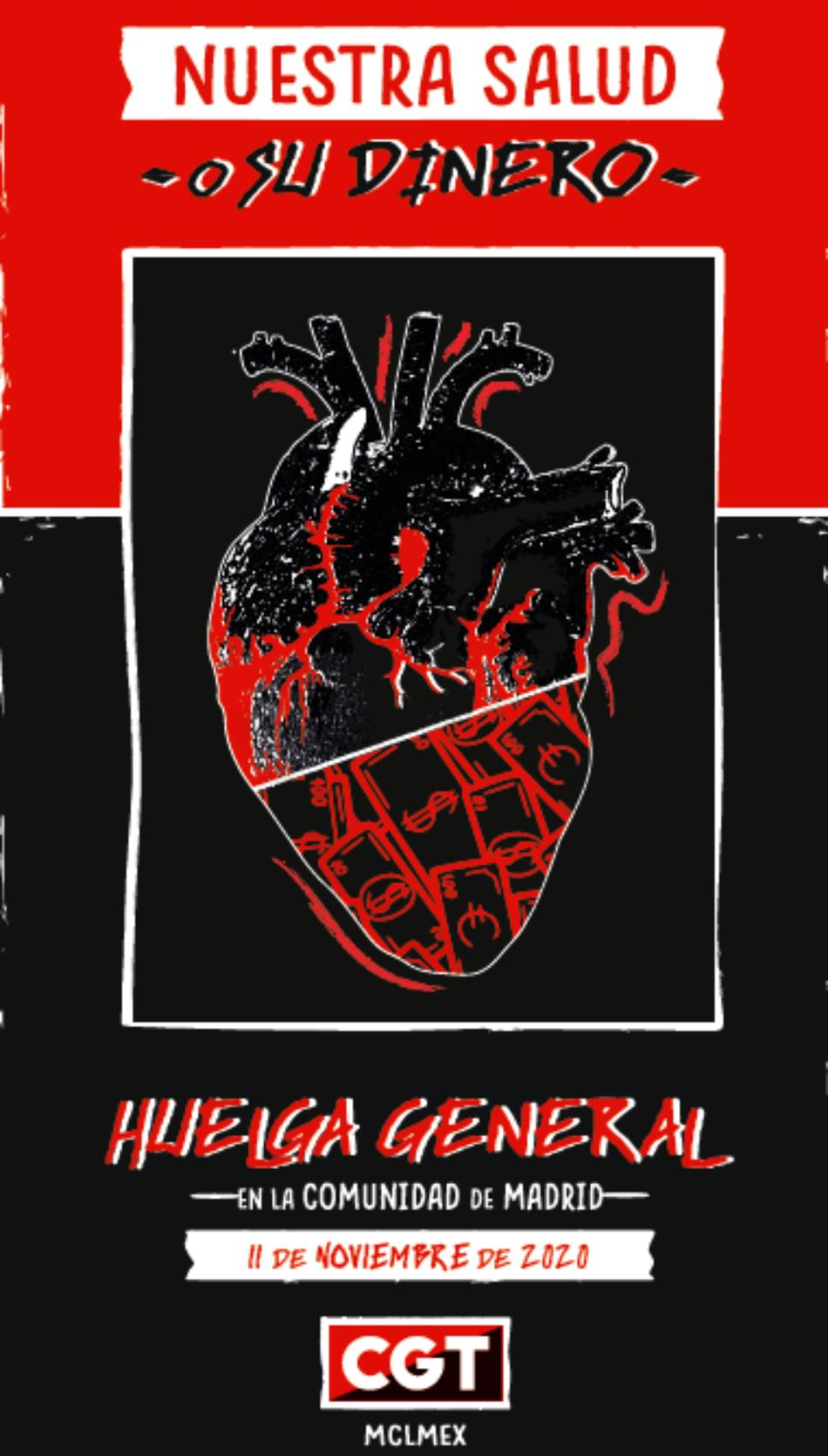 CGT modifica la fecha de Huelga General en Madrid para el próximo 11 de noviembre tras sumar más apoyos de organizaciones y colectivos de la sociedad