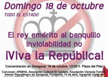 El Encuentro Estatal por la República convoca una movilización unitaria el 18 de octubre