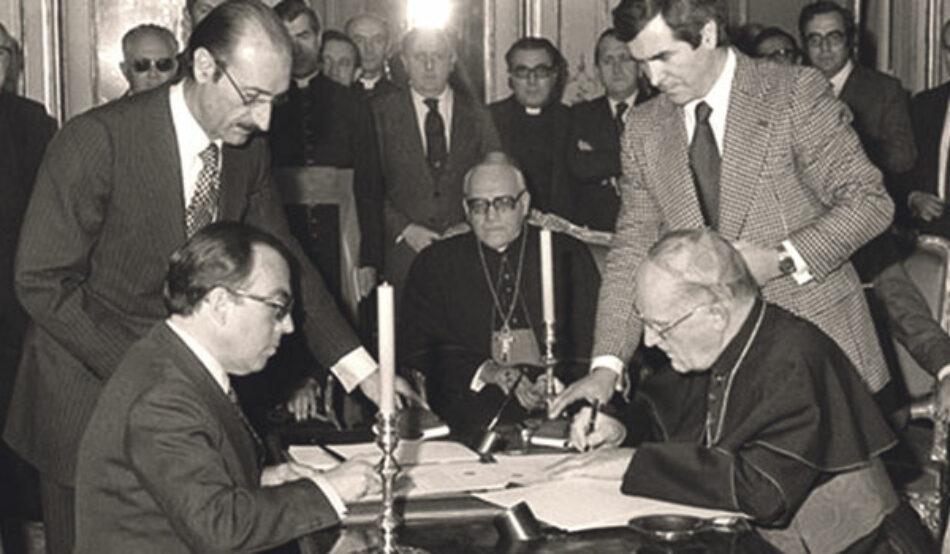Ante la visita de Pedro Sánchez al Vaticano, Europa Laica exige la derogación los Acuerdos con la Santa Sede