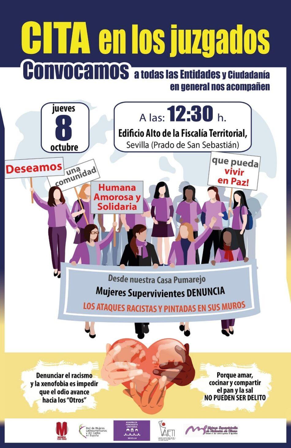 «Mujeres Supervivientes» denuncia ataques racistas y esvásticas pintadas en su Casa Pumajero, en Sevilla