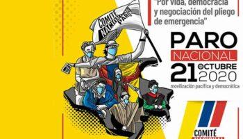 Convocan a paro nacional en Colombia