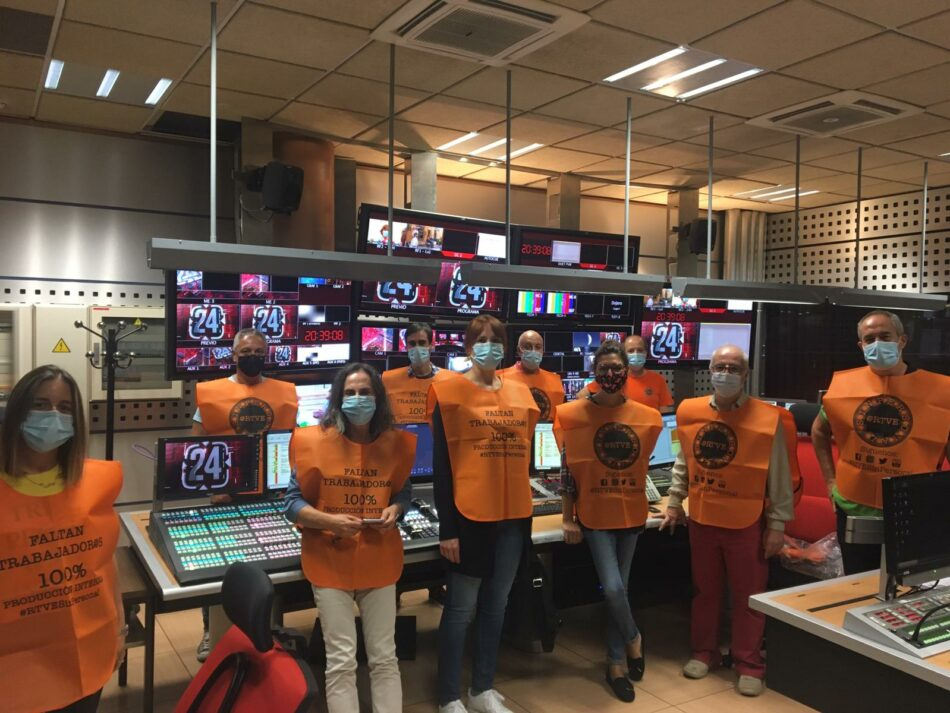 Trabajadores de RTVE protestarán todos los miércoles vistiendo de naranja ante la externalización de servicios informativos