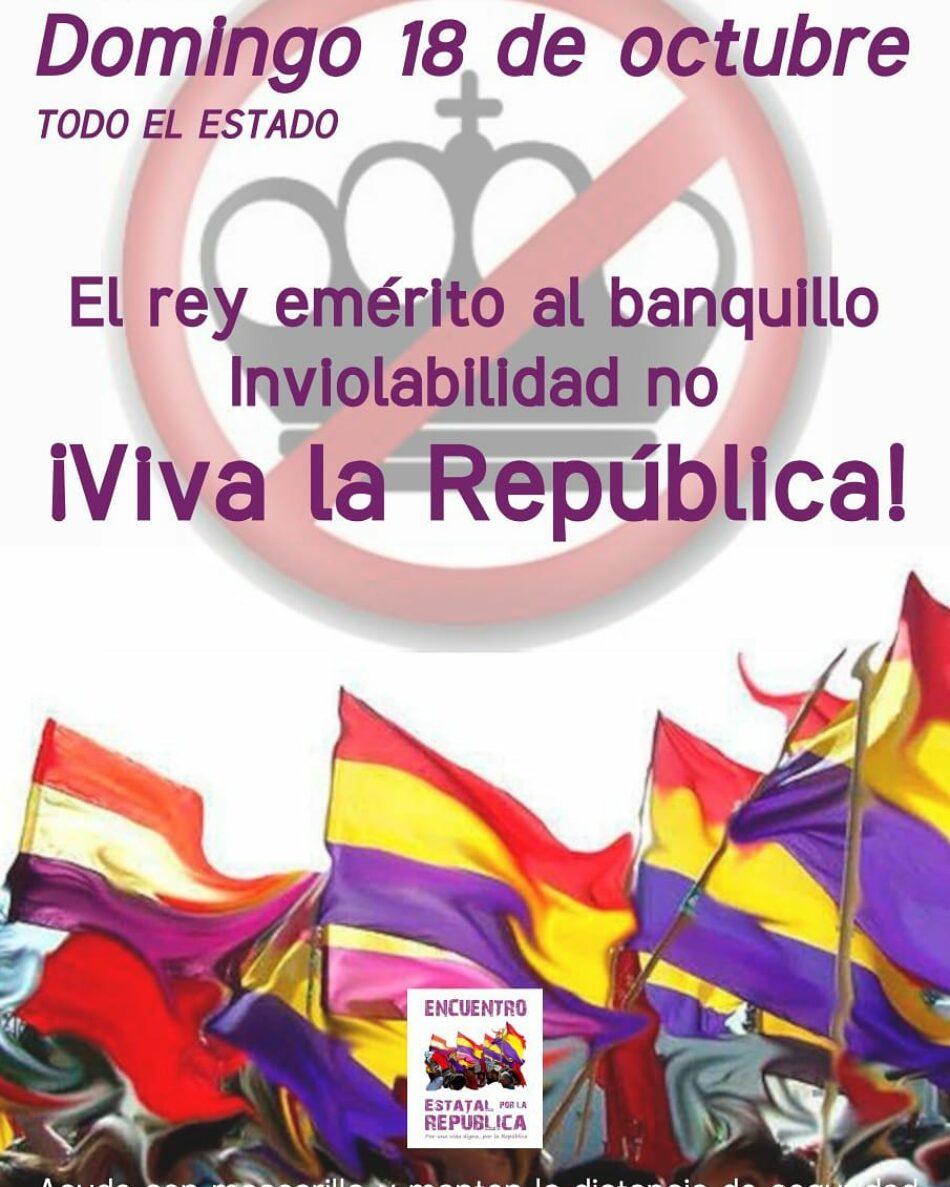 Izquierda Unida Castilla y León secunda las movilizaciones republicanas del día 18 de octubre