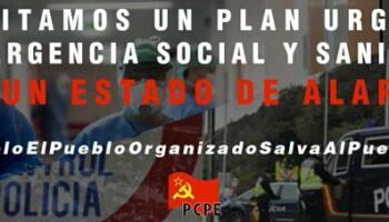 PCPE: «Medio año después, el fracaso de capitalismo para gestionar la pandemia del COVID-19 es evidente»