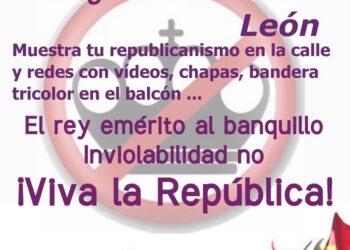 El PCE de León anima a mostrar apoyo a las movilizaciones republicanas del día 18 de octubre