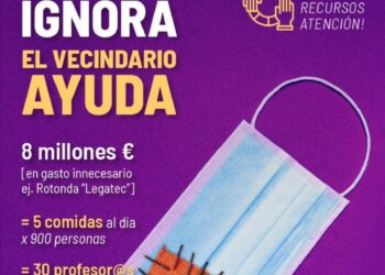 El Ayuntamiento de Leganés invierte 8,7 millones en una rotonda mientras desatiende las necesidades más básicas