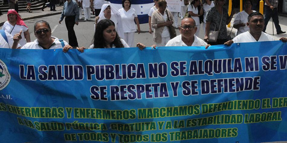 Protestas contra la privatización del sistema sanitario en Honduras