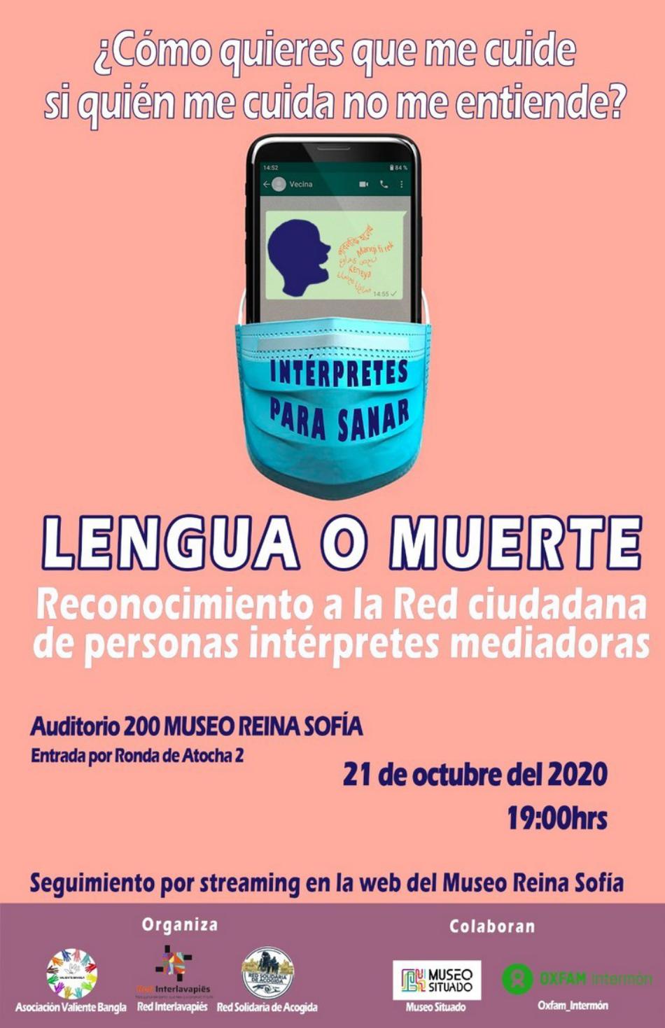 Reconocimiento a personas de la Red de Intérpretes Voluntarias por su trabajo desinteresado durante la pandemia