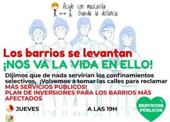 Menos ladrillo y más personal sanitario: las asociaciones vecinales continuarán sus movilizaciones en Madrid