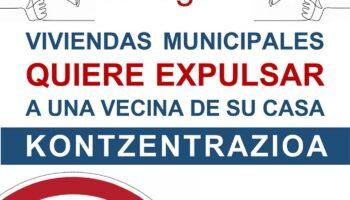 Viviendas municipales quiere expulsar injustamente a una vecina de su casa en el barrio de San Francisco (Bilbao)