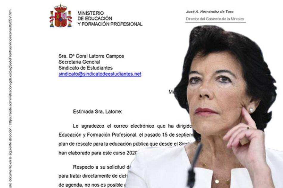 Sindicato de Estudiantes: «El Ministerio de Educación rechaza reunirse con las y los estudiantes»