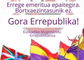 El PCE-EPK llama a secundar las movilizaciones por una salida republicana a la crisis, convocadas por el movimiento republicano el próximo domingo 18 de Octubre