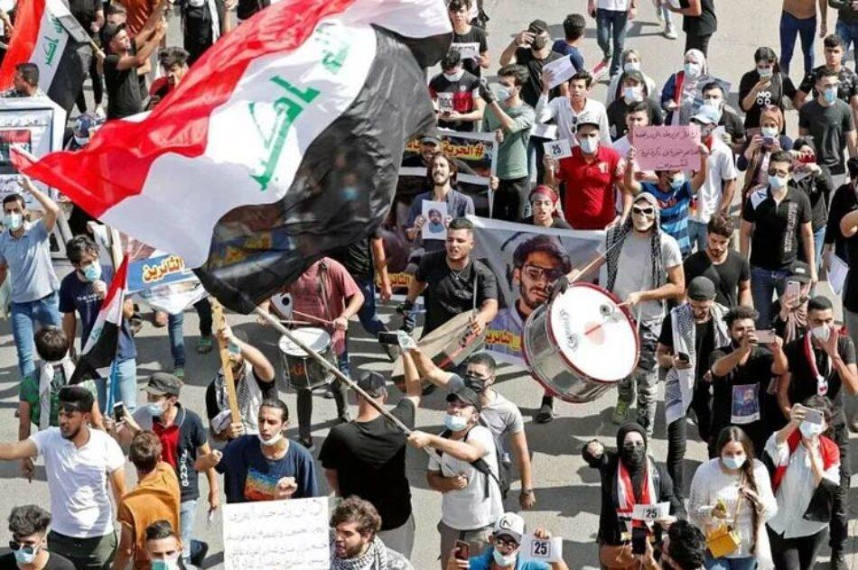 Manifestantes recuerdan sublevación popular en Iraq