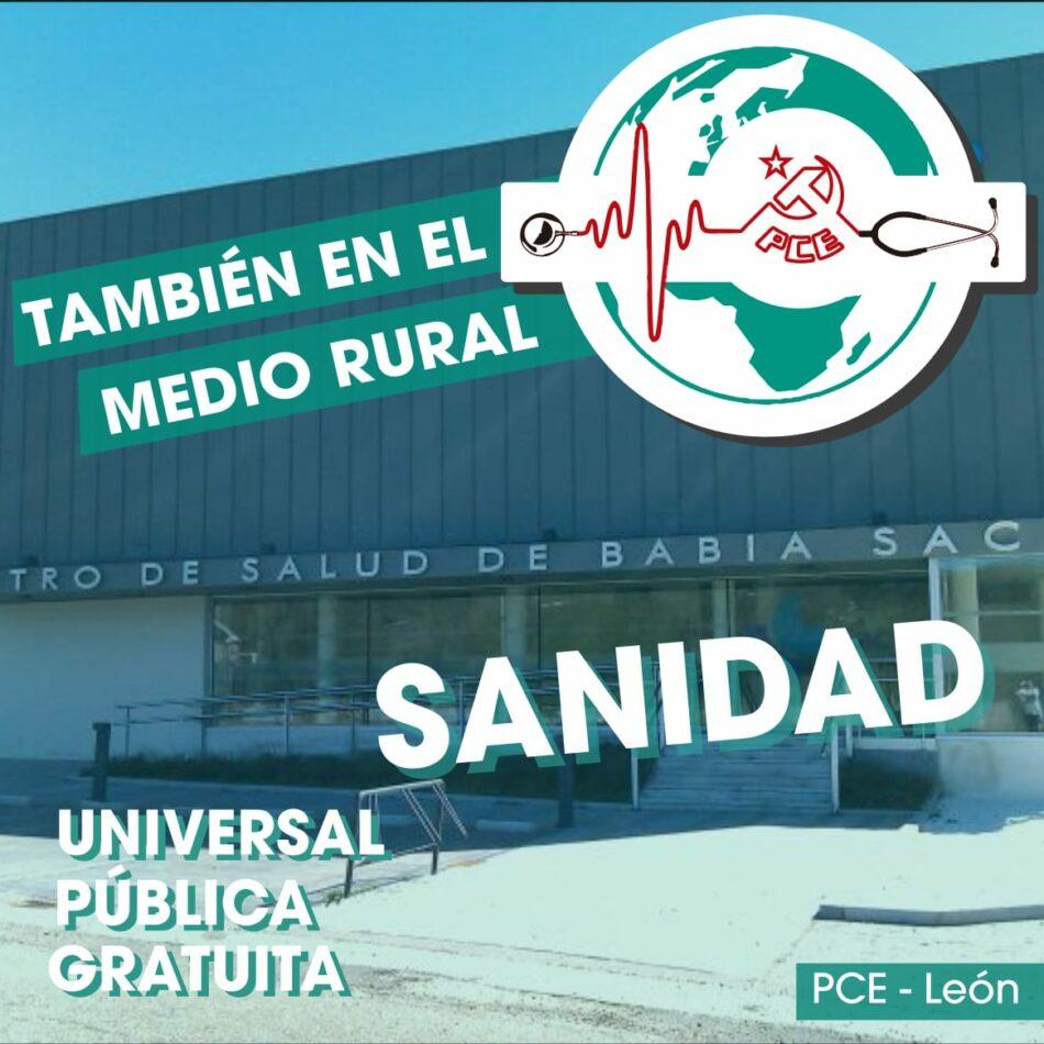 El PCE en León apoya la movilización en defensa de la sanidad rural convocada por la España vaciada