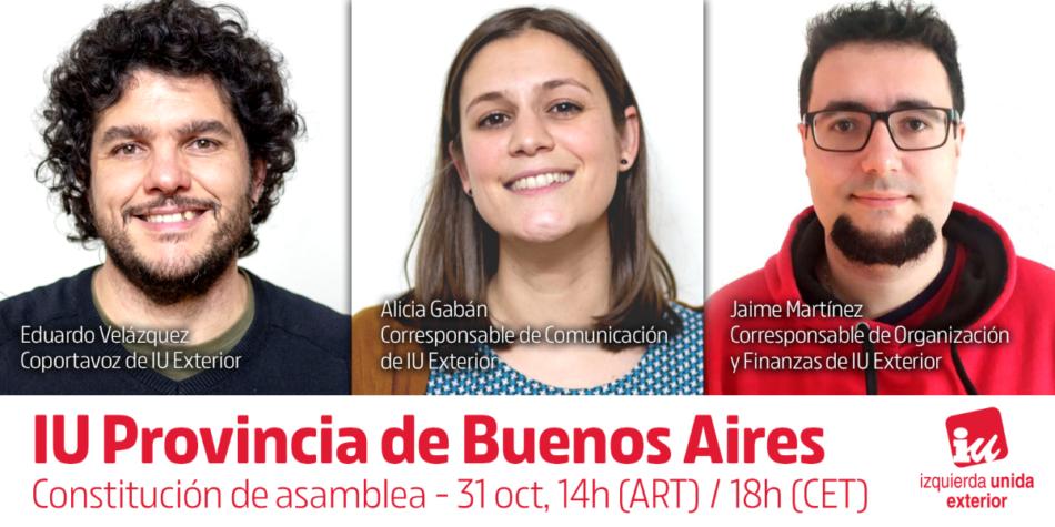IU Exterior funda una nueva asamblea en la Provincia de Buenos Aires