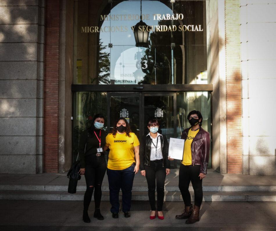 """Organizaciones de trabajadoras del hogar solicitan a la Ministra de Trabajo mejoras urgentes a sus condiciones de trabajo ante la """"crisis de los cuidados"""""""