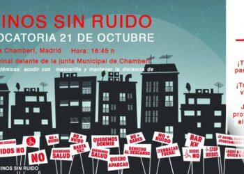 Protesta vecinal contra el ruido y la proliferación de terrazas en Chamberí (Madrid)