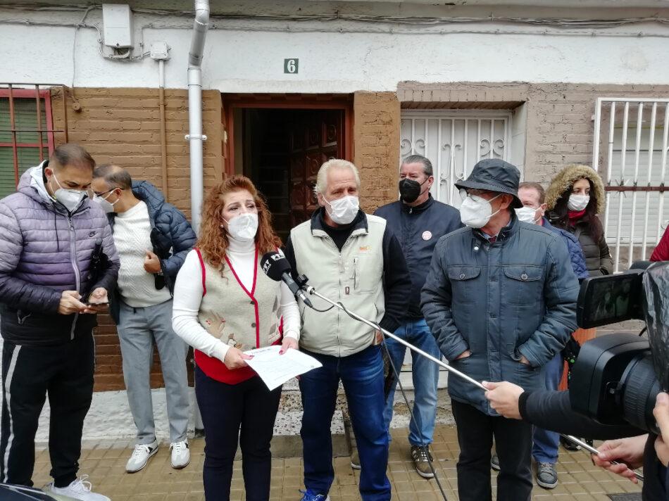 Suspendido sin fecha el desahucio promovido por la Caja Rural en la barriada de la Paz, zona norte de Granada