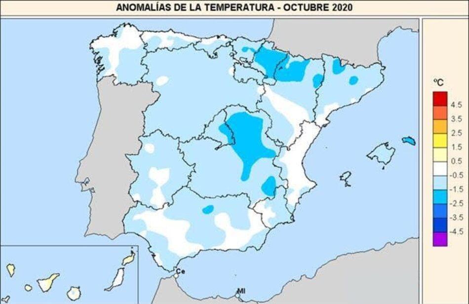 2020 registra el primer mes de octubre frío de los últimos diez años