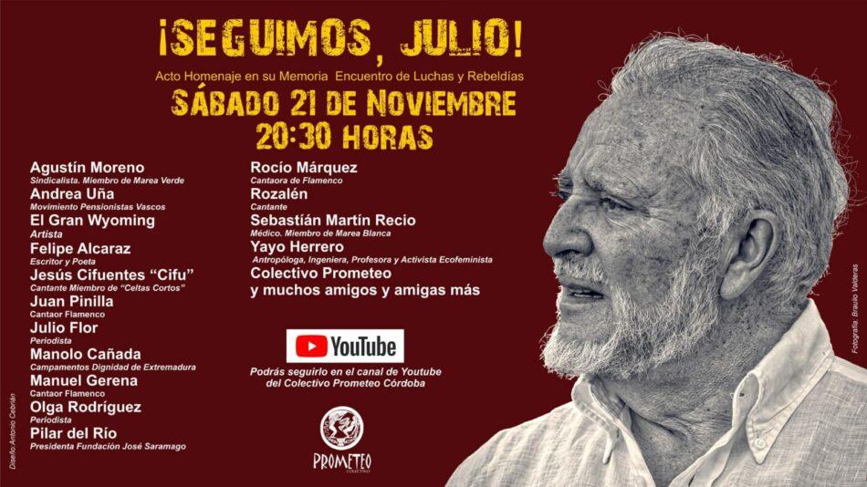 «¡Seguimos, Julio!»: Acto Homenaje en su Memoria. Encuentro de Luchas y Rebeldías