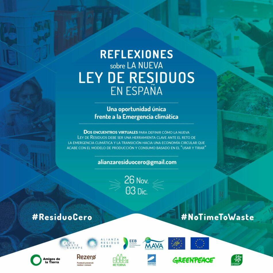 «Es momento de incidir sobre la Ley de Residuos»: Jornadas de reflexión organizadas por la Alianza Residuo Cero y la EEB a partir de este jueves 26