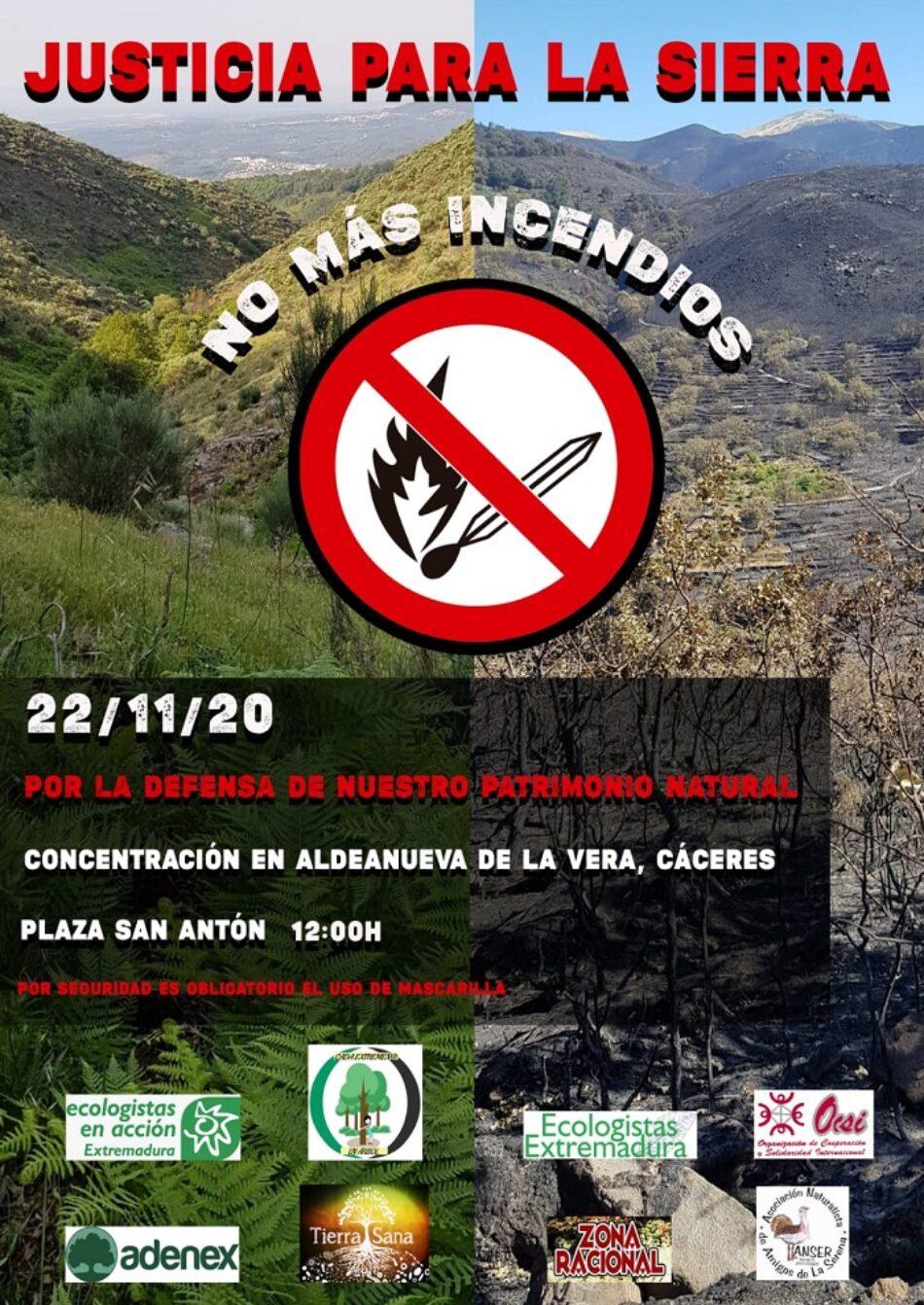 Concentración en Aldeanueva de la Vera por la defensa de nuestro Patrimonio Natural